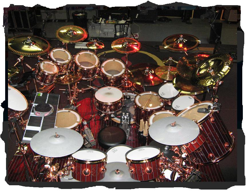 Neil Peart Time Machine Drum Kit. Personalmente no es el set que